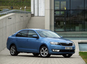 Фото авто Skoda Rapid 3 поколение, ракурс: 315 цвет: голубой
