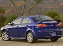 Фото авто Mitsubishi Lancer X, ракурс: 135 цвет: синий