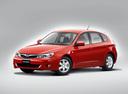 Фото авто Subaru Impreza 3 поколение, ракурс: 45 цвет: красный