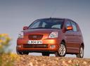 Фото авто Kia Picanto 1 поколение, ракурс: 45 цвет: коричневый