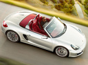 Фото авто Porsche Boxster 981, ракурс: сверху цвет: серебряный