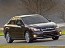 Фото авто Subaru Impreza 4 поколение, ракурс: 315 цвет: вишневый