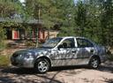 Фото авто Hyundai Accent LC, ракурс: 90 цвет: серебряный