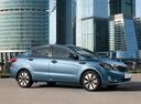 Фото авто Kia Rio 3 поколение, ракурс: 270 цвет: голубой