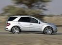 Фото авто Mercedes-Benz M-Класс W164 [рестайлинг], ракурс: 270 цвет: серебряный