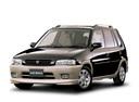 Фото авто Mazda Demio DW, ракурс: 45 цвет: коричневый