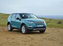 Фото авто Land Rover Discovery Sport 1 поколение, ракурс: 315 цвет: голубой
