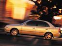 Фото авто Hyundai Accent LC, ракурс: 90 цвет: бежевый