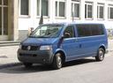 Фото авто Volkswagen Transporter T5, ракурс: 45 цвет: синий