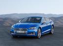 Фото авто Audi S5 F5, ракурс: 45 цвет: голубой