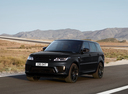 Фото авто Land Rover Range Rover Sport 2 поколение [рестайлинг], ракурс: 45 цвет: черный