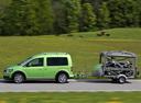 Фото авто Volkswagen Caddy 3 поколение [рестайлинг], ракурс: 90 цвет: зеленый