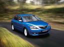 Фото авто Mazda 3 BK, ракурс: 315 цвет: голубой