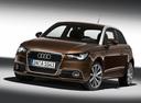 Фото авто Audi A1 8X, ракурс: 45 цвет: коричневый
