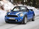 Фото авто Mini Cabrio R57 [рестайлинг], ракурс: 45 цвет: голубой