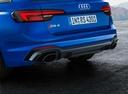 Фото авто Audi RS 4 B9, ракурс: задняя часть цвет: голубой