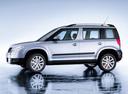 Фото авто Skoda Yeti 1 поколение, ракурс: 90 - рендер цвет: серебряный