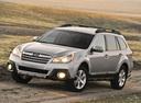 Фото авто Subaru Outback 4 поколение [рестайлинг], ракурс: 45 цвет: серебряный