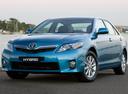 Фото авто Toyota Camry XV40 [рестайлинг], ракурс: 45 цвет: голубой