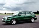 Фото авто Subaru Impreza 2 поколение, ракурс: 45 цвет: зеленый