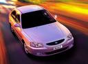Фото авто Hyundai Accent LC, ракурс: сверху цвет: серебряный