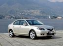 Фото авто Mazda 3 BK [рестайлинг], ракурс: 315 цвет: бежевый