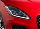 Фото авто Jaguar E-Pace 1 поколение, ракурс: передние фары цвет: красный