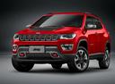 Фото авто Jeep Compass 2 поколение, ракурс: 45 цвет: красный