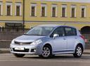 Фото авто Nissan Tiida C11 [рестайлинг], ракурс: 45 цвет: голубой