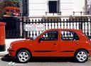 Фото авто Nissan March K11 [рестайлинг], ракурс: 90 цвет: красный