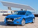 Фото авто Mazda 3 BM [рестайлинг], ракурс: 45 цвет: голубой