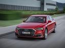 Фото авто Audi A8 D5, ракурс: 45 цвет: красный