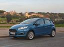 Фото авто Ford Fiesta 6 поколение [рестайлинг], ракурс: 45 цвет: голубой