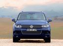 Фото авто Volkswagen Touareg 2 поколение,  цвет: синий