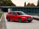Фото авто Audi A4 B9, ракурс: 315 цвет: красный