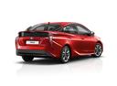 Фото авто Toyota Prius 4 поколение, ракурс: 225 цвет: красный