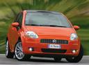 Фото авто Fiat Punto 3 поколение, ракурс: 315 цвет: оранжевый