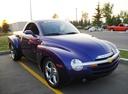 Фото авто Chevrolet SSR 1 поколение, ракурс: 315 цвет: фиолетовый