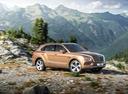 Фото авто Bentley Bentayga 1 поколение, ракурс: 270 цвет: бронзовый