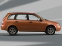 Фото авто ВАЗ (Lada) Kalina 1 поколение, ракурс: 270 цвет: оранжевый