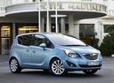 Фото авто Opel Meriva 2 поколение, ракурс: 315 цвет: голубой