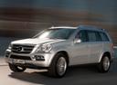 Фото авто Mercedes-Benz GL-Класс X164 [рестайлинг], ракурс: 45 цвет: серебряный