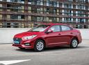 Фото авто Hyundai Solaris 2 поколение, ракурс: 45 цвет: красный
