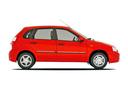 Фото авто ВАЗ (Lada) Kalina 1 поколение, ракурс: 270 цвет: красный