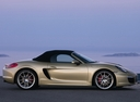Фото авто Porsche Boxster 981, ракурс: 270 цвет: бежевый
