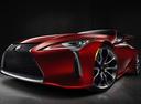 Фото авто Lexus LC 1 поколение, ракурс: 45 цвет: красный