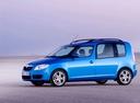 Фото авто Skoda Roomster 1 поколение, ракурс: 90 цвет: голубой