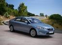 Фото авто Ford Mondeo 4 поколение, ракурс: 315 цвет: голубой