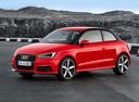 Фото авто Audi A1 8X [рестайлинг], ракурс: 45 цвет: красный