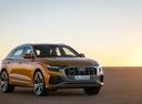 Фото авто Audi Q8 1 поколение, ракурс: 315 цвет: оранжевый